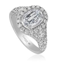 Christopher Designs L'Amour Crisscut® Oval Diamond Engagement Ring