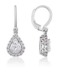 Christopher Designs L'Amour Crisscut Pear Shape diamond earrings