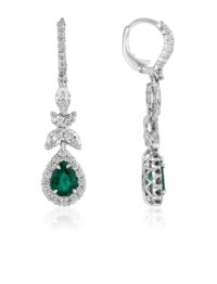 Christopher Designs Emerald Earrings