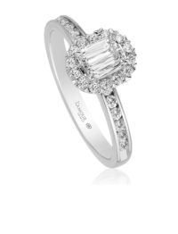 Christopher Designs L'Amour Crisscut Diamond Engagement Ring