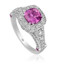 Christopher Designs Pink Sapphire Ring