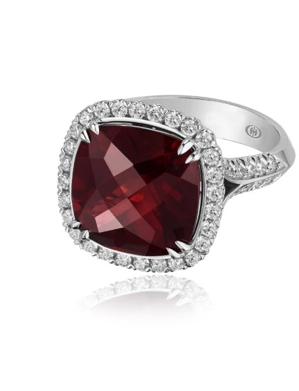 Christopher Designs Red Garnet Ring