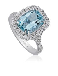 Christopher Designs Aquamarine and Diamond Ring