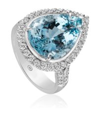 Christopher Designs  Aquamarine Ring