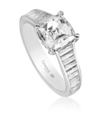 Christopher Designs L'Amour Crisscut® Cushion Diamond Engagement Ring