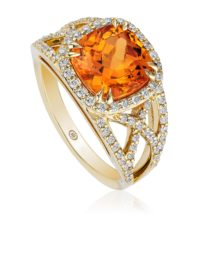 Christopher Designs Mandarin Garnet Ring