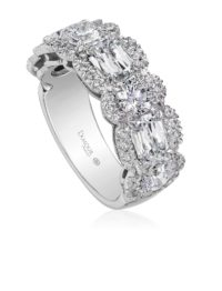 Christopher Designs L'Amour Crisscut and Crisscut round diamond band