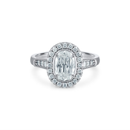 Christopher Designs halo engagement ring