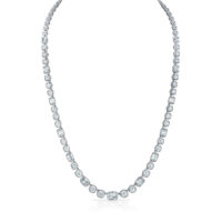 Christopher Designs diamond necklace with alternating L'Amour Crisscut