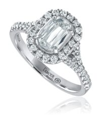 L'Amour Crisscut® classic halo engagement ring