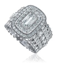 L'Amour Crisscut® Art Deco style engagement ring